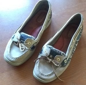 Sperry Topsiders Cheetah Leather Shoes